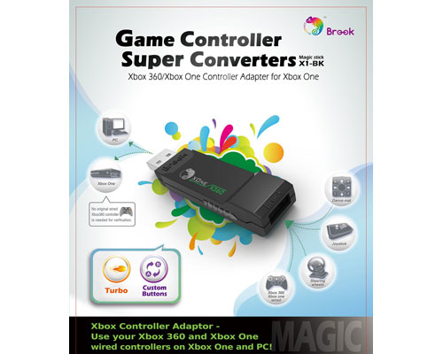 Brook XBOX 360 Controller Adapter Converter to for XBOX One